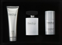 Perry Ellis Platinum Label by Perry Ellis 3 PC Gift Set for Men New in Box - $49.99