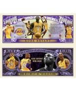 Pack Of 25 - LA Lakers Kobe Bryant Black Mamba Dollar Bills Limited Edition - $9.85