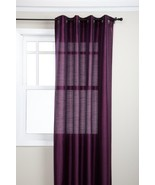 Stylemaster Tribeca 56 by 84-Inch Faux Silk Grommet Panel, Amethyst - $13.61