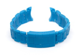 20MM BLUE PLASTIC BUCKLE WATCH BAND FITS TOY WATCH PLASTERAMIC SERIES - $9.89