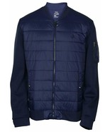 Polo Ralph Lauren Men's Double Knit Quilted Bomber Jacket Navy S, 7369-2 - $78.25