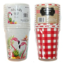 MB (1) 12pc 9 oz Set PAPER CUPS Party Supplies SUMMER DESIGNS New! *YOU ... - $5.99