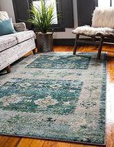 Rugs.com El Paso Collection Rug – 8' x 10' Green Medium Rug Perfect for Living R - $249.00