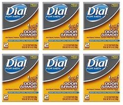 Lot of 12 Bars One Dozen Dial for Men Odor Armour Bar Soap 3.2 oz/bar - $17.15