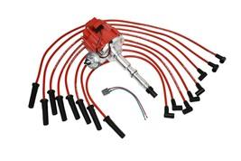 HEI DISTRIBUTOR 65K RED SPARK PLUG WIRES AMC JEEP 67-90 290 304 343 360 390 401