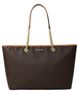New Signature Jet Set Travel Chain Medium Top Zip Multifunction Tote Bag... - $179.99