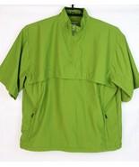 IZOD pullover men's golf half zip short sleeve green polyester pockets s... - $19.67
