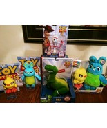 Toy Story 4 Lot Bunny Duck Rex Walmart Exclusive Posable Figures Forky T... - $148.49