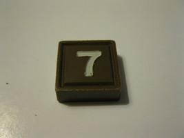 1968 3m bookshelf Quinto Board Game Piece: Brown #7 Square - $1.00