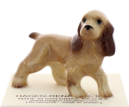 Hagen-Renaker Miniature Ceramic Dog Figurine Don Winton Cocker Spaniel Papa  - $8.49