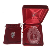 2000 Waterford Signed  Crystal Christmas Ornament w/ Box and Cloth Bag - $31.68