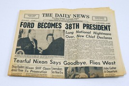 Vintage Aug 9 1974 PA Daily News Newspaper Gerald Ford Becomes President - $49.49