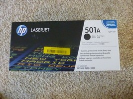 Genuine Hp 501A (Q6470A) Black Toner Cartridge - New - SEALED- Oem - Read Notes - $33.95