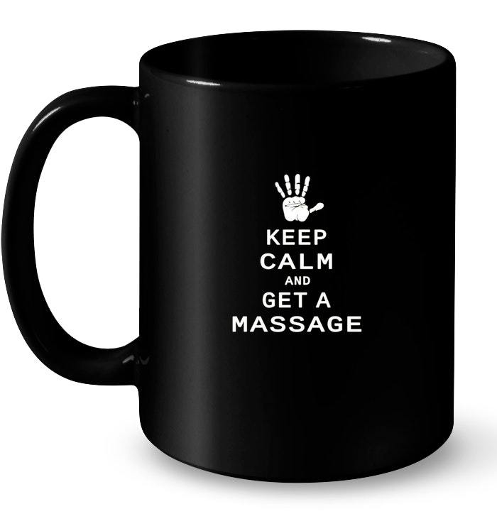 Primary image for Keep Calm and Get A Massage Vintage Ceramic Mug
