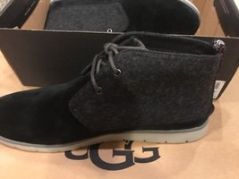 New UGG 1018442 FREAMON ANKLE BOOTS  LIGHTWEIGHT BLACK SUEDE/WOOL US SIZ... - $64.35