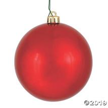 "Vickerman 3"" Christmas Red Shiny Ball Christmas Ornament - 32/Box - $44.00"
