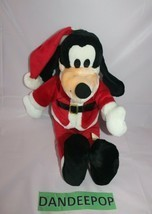 "Walt Disney Goofy In Santa Outfit Vintage Stuffed Animal Plush 17"" - $24.74"