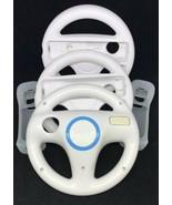 Lot Of 3 Original OEM Nintendo Wii Steering Wheel Mario Kart + 2 Remote Sleeves - $18.70