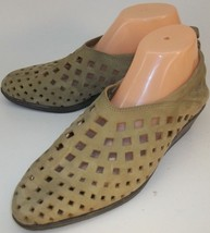 Arche Wos Wedge Loafer Shoes EU 41 US 10 olive green nubuck Slip-On Cut ... - $74.58