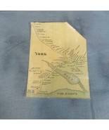 Small ca 1860 Map York Maine Interior Town, Names - $22.30