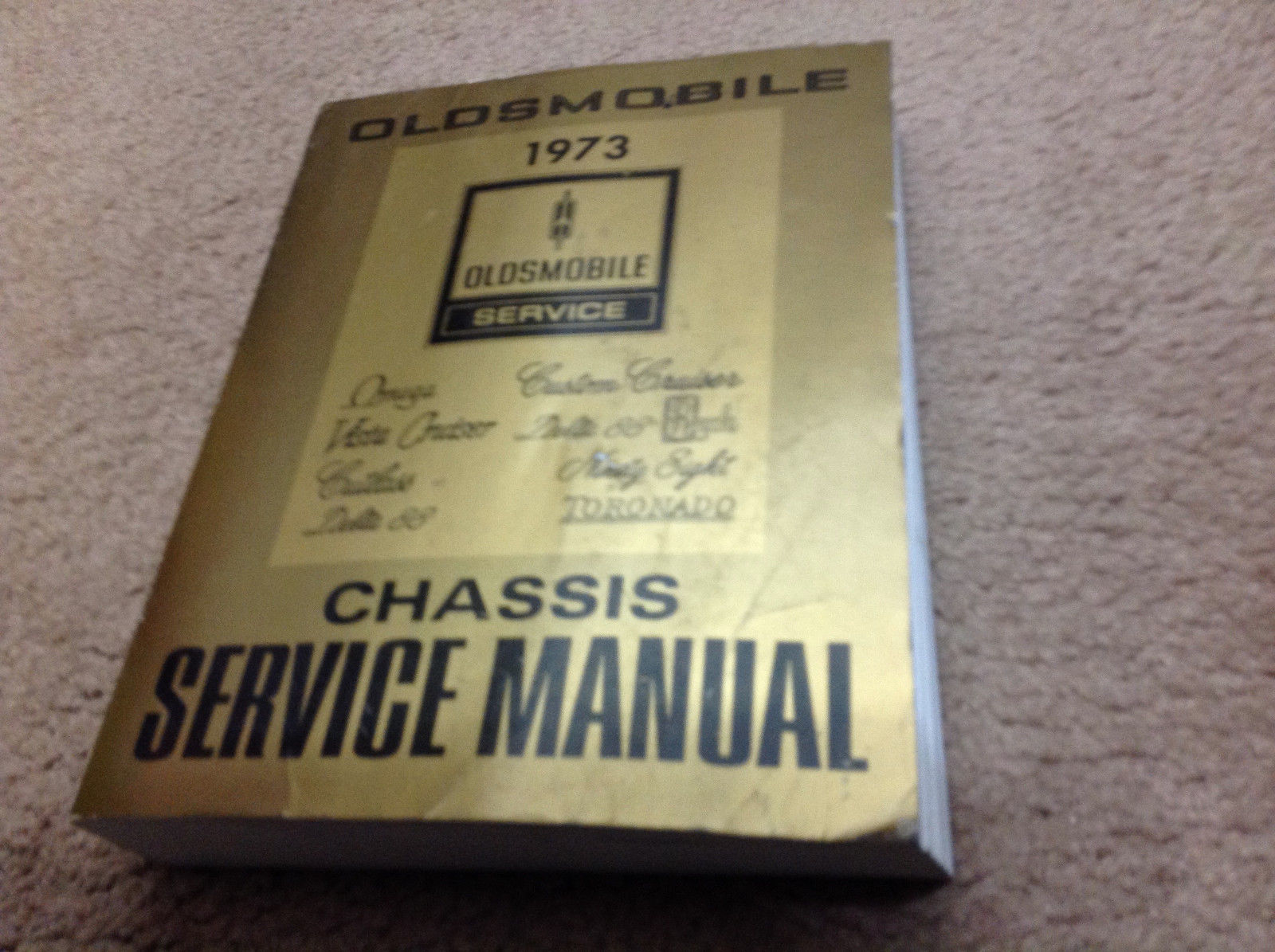 1973 Oldsmobile F85 CUTLASS 442 VISTA DELTA TORNADO 88 Service Shop Manual OEM