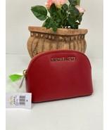 New Michael Kors Cosmetic Bag  Makeup Jet Set Travel  Leather Scarlet Re... - $68.59