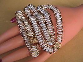 14k Yellow Gold Biwa Pearl Matching Beaded Bracelet Necklace Set - $1,300.00