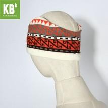 Gray Blue or Orange Gray w. Knitted N-Design Headband for Fall & Winter in Bulk - $20.09+
