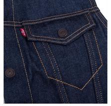 New Levi's Men's Premium Button Up Sherpa Fleece Lined Multi Pocket Denim Vest image 9