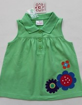 Hanna Andersson Tunic Top Green Floral Applique Size 110 NWT - $18.99