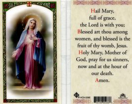 Hail Mary Full of Grace Prayer Card - EB511 - The Lord is With You; Bles... - $2.79