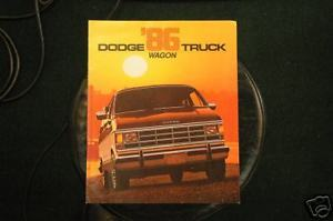 Primary image for 1986 Dodge Truck Wagon Brochure