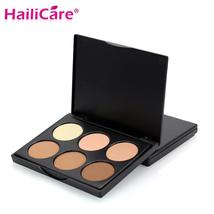 6 Color Powder Face Contour Highlighter Eye Shadow Bronzer Palette Conce... - $4.02