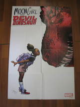 "(MX-6) HUGE 2015 Marvel Comics Promo Poster:Moon Girl & Devil Dinosaur 24"" x 36"" - $25.00"