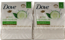 6 Dove Go Fresh Cool Moisture Beauty Bars With Cucumber And Green Tea Scent - $18.99
