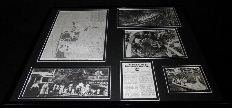 Primary image for Kennywood Park Pittsburgh Amusement 1940s Framed 16x20 Photo Collage Display
