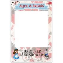Alice in Wonderland Baby Shower Selfie Frame Social Media Photo Prop Poster - $16.34+