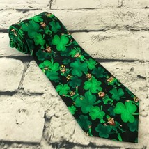 Hallmark NovelTies Mens Irish Leprechaun Shamrock Tie Green St. Patrick'... - $9.89