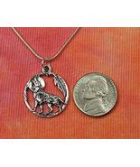 """Full Moon Wolf and Feather Necklace (26"""") - $42.56"""
