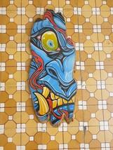 wood painting,devil face painting oni hanya,home decor,wall decor,acryli... - $99.00