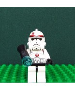 LEGO #7250 Clone Trooper Star Wars Minifig Dark Red Marking & Original W... - $13.50