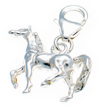 Sterling 925 Solid Silver Welded Bliss British Charm. 3d  Horse Pony Clip On fit - $21.12