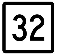 Connecticut State Highway 32 Sticker Decal R5074 Highway Route Sign - $1.45+