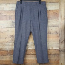 Levi Strauss & Co Pants Mens Size 38x32 Gray Multi Color Pleated MM9 - $14.84