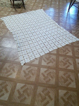 "Crocheted Tablecloth 68"" X 55"" - $40.00"
