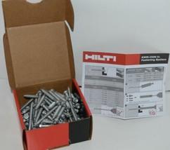 Hilti 433022 Kwik Con II PLUS TORX HWH 1/4 in x 2-1/4in silver screws 100 pc image 1