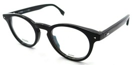 Fendi Rx Eyeglasses Frames FF 0219 807 47-22-145 Black Made in Italy - $116.03