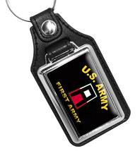 United States Army First Army Emblem Faux Leather Key Ring - €8,92 EUR
