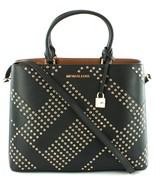 Michael Kors Adele Black Leather Shoulder Bag Handbag RRP £345 - $294.62