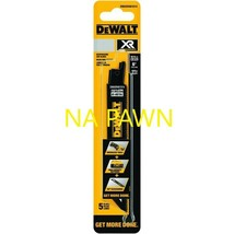 Dewalt Xr 5-Pk 6-in 10/-TPI Metal Cutting Reciprocating Blade New Free Shipping* - $12.58